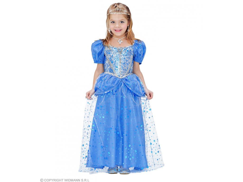 Kék mesebeli hercegnő lány jelmez Minitoys web ruh z cae4ed1b89