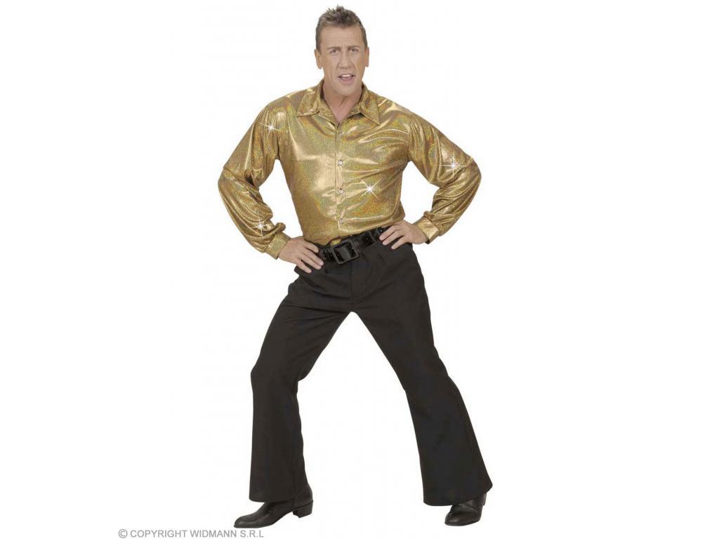 052ded6790 Ing holografikus díszítéssel arany színben férfi jelmez Férfi ...