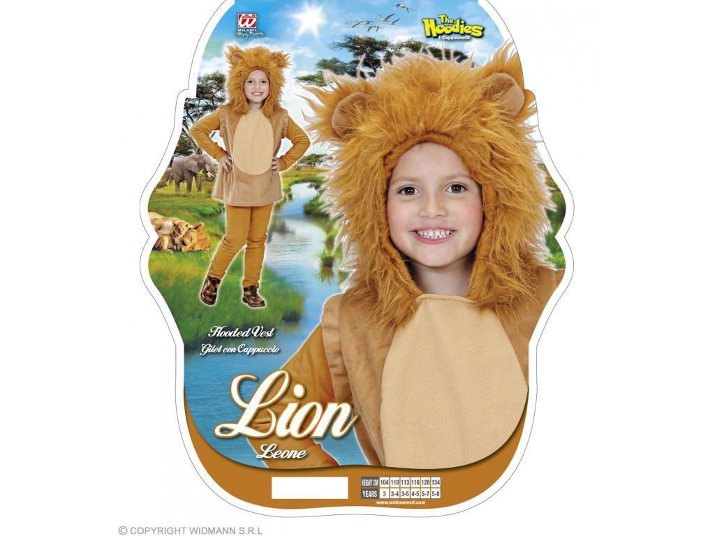 Mellény kapucnival oroszlán unisex gyermek jelmez Mellény kapucnival  oroszlán unisex gyermek jelmez 18c4c7f0dd