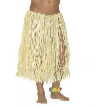 Hawaii szoknya natúr színben 78 cm-es unisex felnőtt jelmez 7a6b32df87
