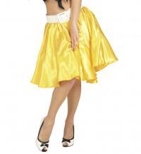 Szatén szoknya női jelmez felnőtt általános méretben sárga színb b327b283af