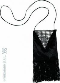 Fekete charlestone táska , kiegészítő 20 as 30 as évek